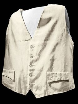 The real Gene Kranz's off-white faille vest. (Source: SmithsonianMag.com. Photo credit: Eric Long.)