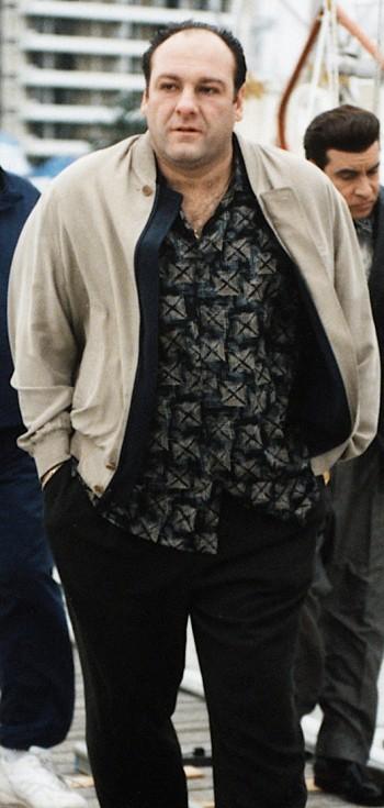 """James Gandolfini as Tony Soprano on The Sopranos (Episode 2.13: """"Funhouse"""")"""