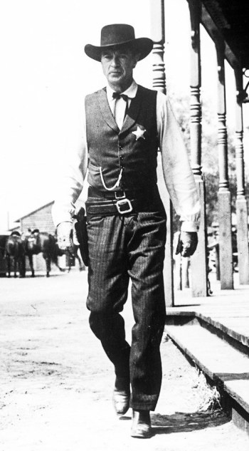 Gary Cooper as Marshal Will Kane in High Noon (1952)