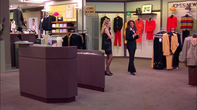 """Though rebranded as """"Billingsley"""", the department store where Jackie buys her famous suit is clearly a Macy's, specifically the Jones New York section of the Del Amo Fashion Center mall location."""