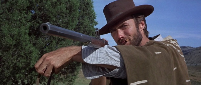 """The IMFDB writer also states that the placement of Eastwood's arm during the scene prevents the viewer from recognizing the """"breechblock pivot area"""" that would distinguish the Spencer from the Sharps."""