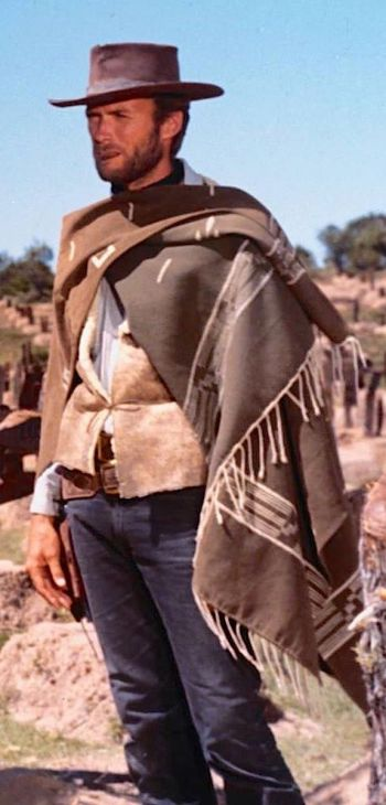 """Clint Eastwood as Blondie, aka """"the Man with No Name"""", in The Good, the Bad, and the Ugly (1966)"""