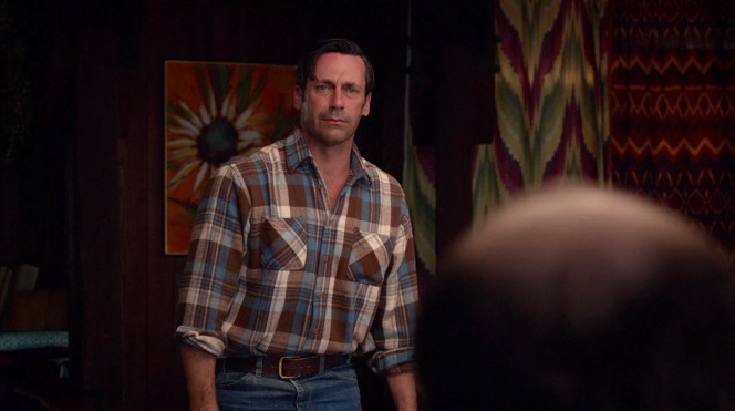 Don Draper's visual transformation to a lumberjack by the series finale was arguably better executed than on Dexter...