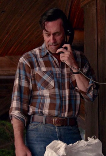 """Jon Hamm as Don Draper on Mad Men (Episode 7.14: """"Person to Person"""")"""