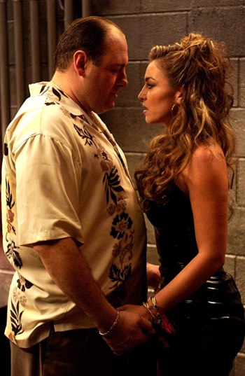 "James Gandolfini and Drea de Matteo on The Sopranos (Episode 5.05: ""Irregular Around the Margins"")"