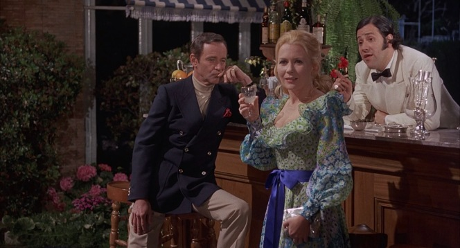 """Pamela apologizes for her lateness by explaining that she had to wear her mother's dress, to which Wendell responds, """"Well, that's only fair. Actually, this is my father's suit,"""" indicating his blazer and slacks"""