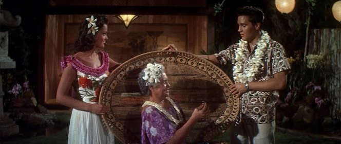 Maile's grandmother seems quite taken by Chad, and he returns the favor by placing his lei on her after singing about how he can't help falling in love with her. (And yes, I'm still talking about her grandmother.)