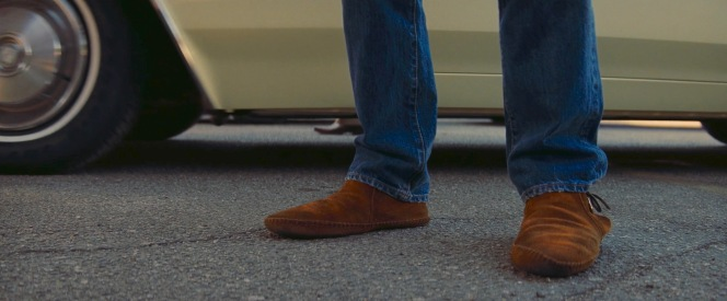 Introduced in 1968, Minnetonka's suede moccasin boots would have still been fresh to the menswear market by the time Cliff stepped out of Rick Dalton's Cadillac in the Musso & Frank parking lot in February 1969.