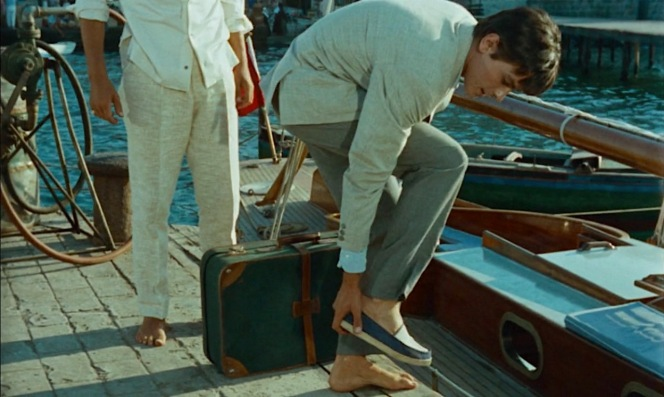 Stylish though Tom's espadrilles may be, Philippe refuses to let him wear them aboard his yacht.