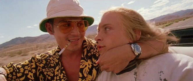 "Ostensibly tasked with covering the fourth annual Mint 400 off-road race as ""the absolute cream of the national sporting press,"" Duke confirms to a bewildered hitchhiker (Tobey Maguire) picked up somewhere in Bat Country that ""we're on our way to Las Vegas to find the American Dream."""