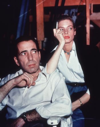 Humphrey Bogart and Lauren Bacall on set of Key Largo (1948)(Source: CRFashionBook.com)