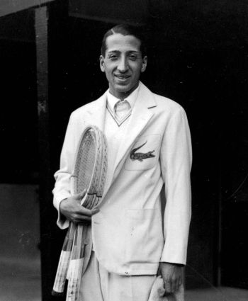 Rene Lacoste, French tennis champion and innovator of the classic pique polo shirt.