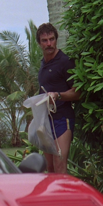 "Tom Selleck as Thomas Magnum in the Magnum P.I. pilot episode, ""Don't Eat the Snow in Hawaii"""