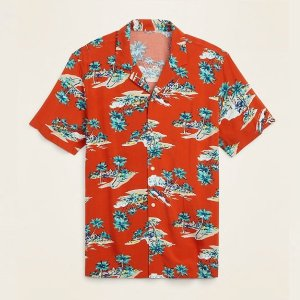 """Island Paradise"" relaxed fit camp shirt from Old Navy"