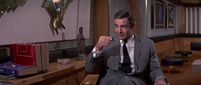Finally, Bond is served a drink he can enjoy!