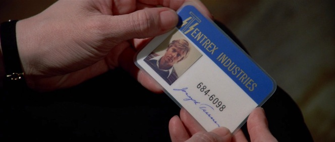 """In Three Days of the Condor, Joe Turner's ID for the CIA cover organization """"Tentrex Industries"""" features Redford wearing his sweater from The Way We Were, though his hair has grown out to Condor length."""