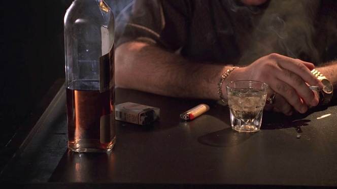 """Tony's scotch and cigarettes in """"Nobody Knows Anything"""". Is he bracing for the decision he has to make or merely for his conversation with Paulie?"""
