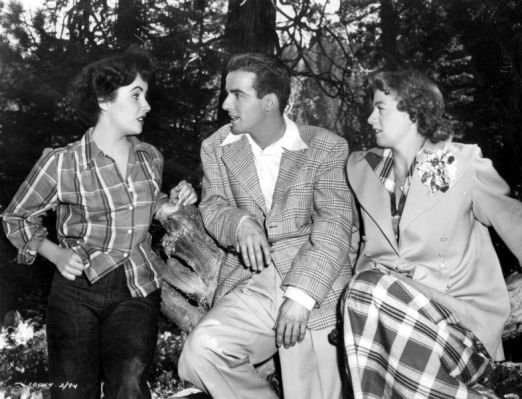 This set photo of Taylor, Clift, and Winters during production of A Place in the Sun suggests an unlikely alternate reality where tragedy could have been averted by George and Alice living peacefully with Angela as a close friend.