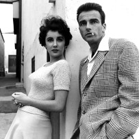 Elizabeth Taylor and Montgomery Clift at Paramount during production of A Place in the Sun. Photo by Peter Stackpole for LIFE.
