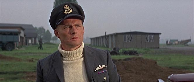 Earlier in the film, Skipper hasn't yet earned his DFC.
