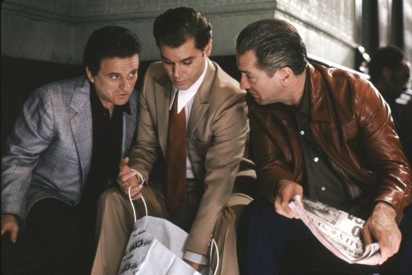 Pesci, Liotta, and De Niro in Goodfellas.
