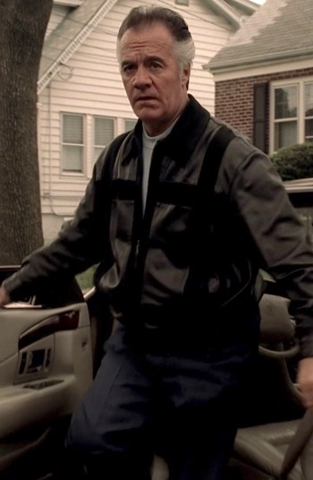 "Tony Sirico as ""Paulie Walnuts"" Gualtieri in ""Where's Johnny?"", the third episode of the fifth season of The Sopranos."